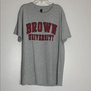 Tops - Brown University Collegiate Tee Sz Large